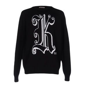 Christopher Kane maxi logo wool sweater